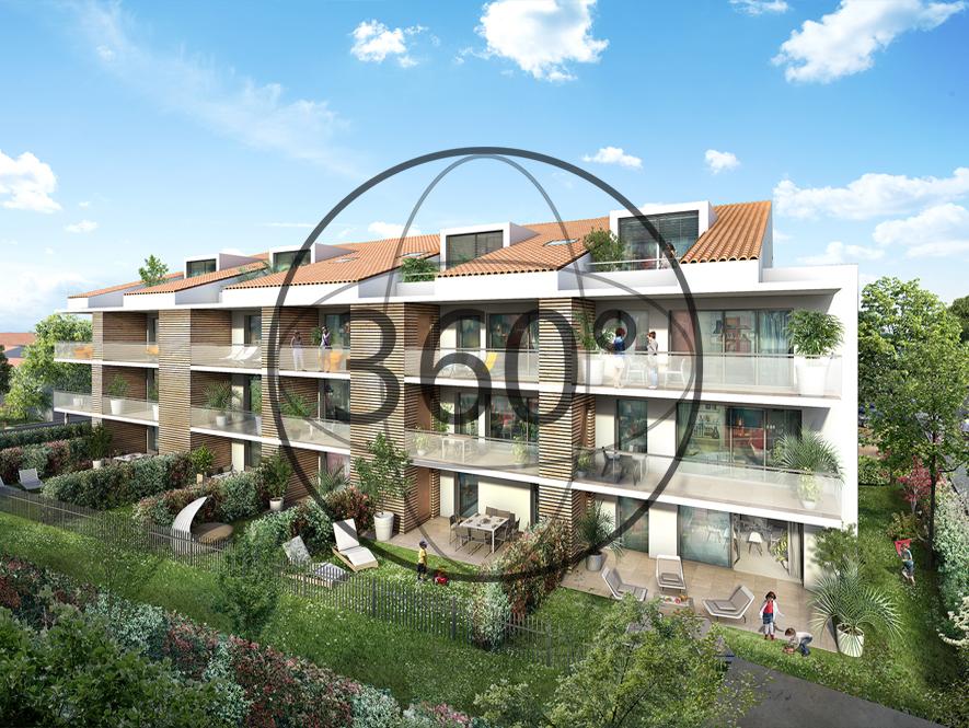 Une perspective 3D de la résidence