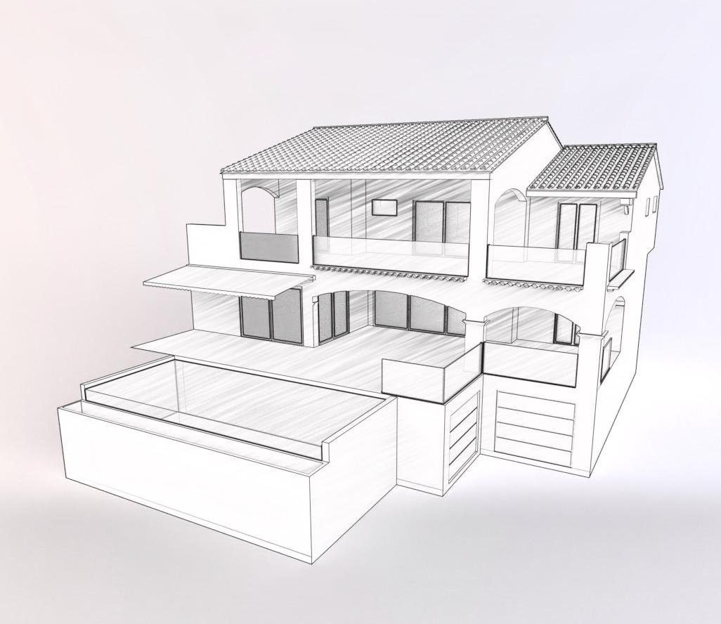 Maquette croquis noir et blanc en architecture
