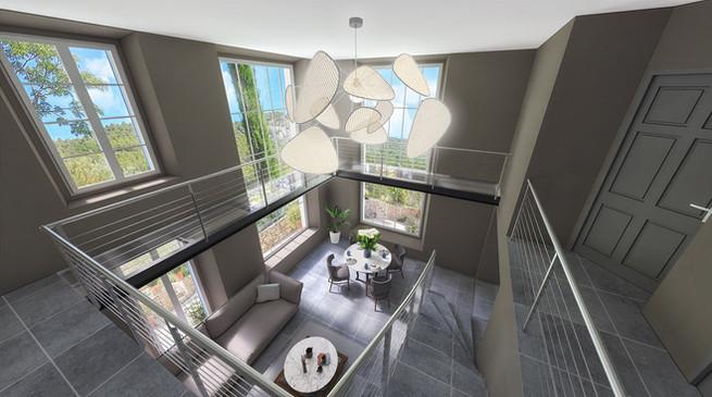 La perspective 3D d'une maison provencale