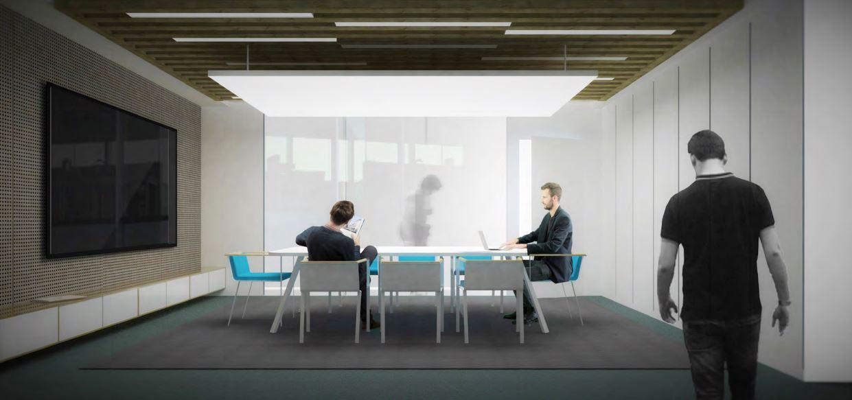 Salle de réunion, design d'entrepris