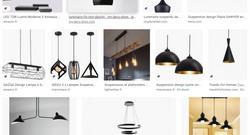 Luminaire noir design