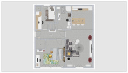 Le plan 2D texturé d'un appartement