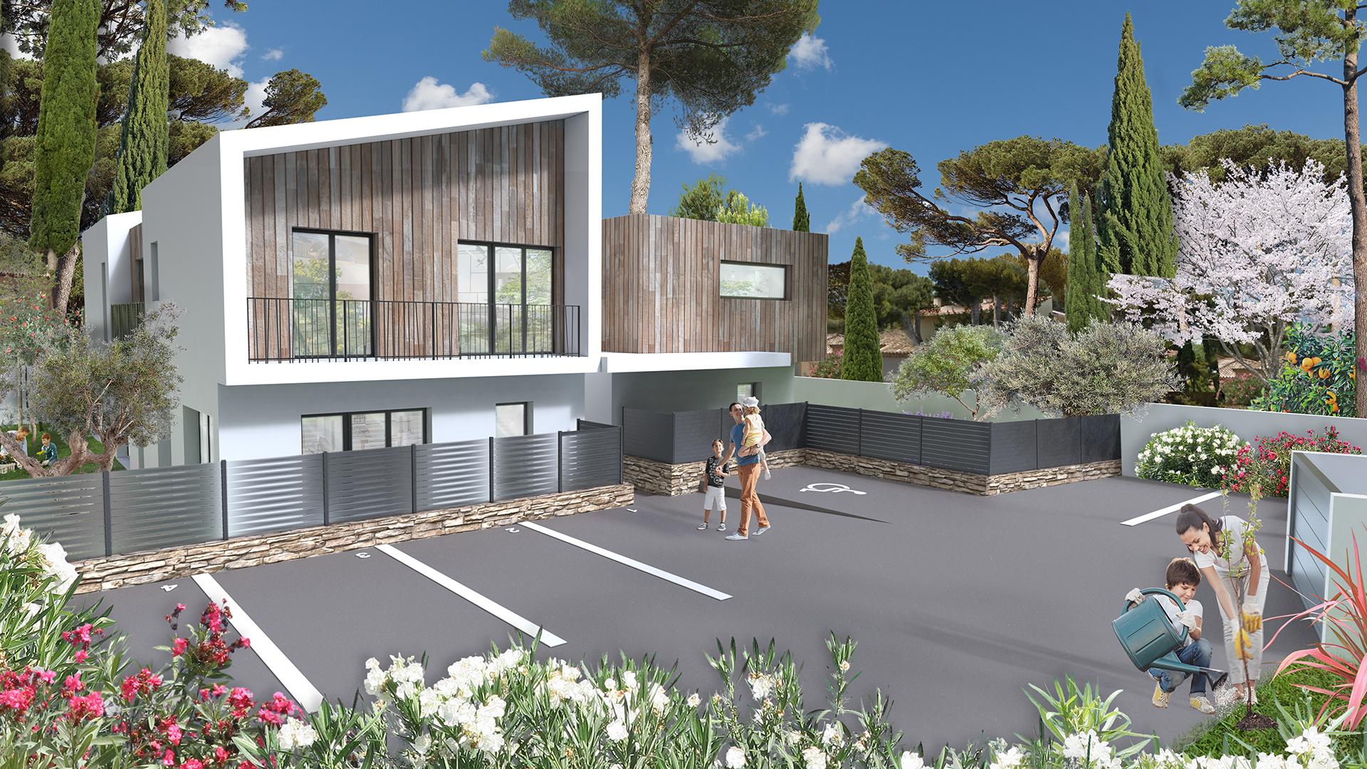 La perspective 3D d'une résidence