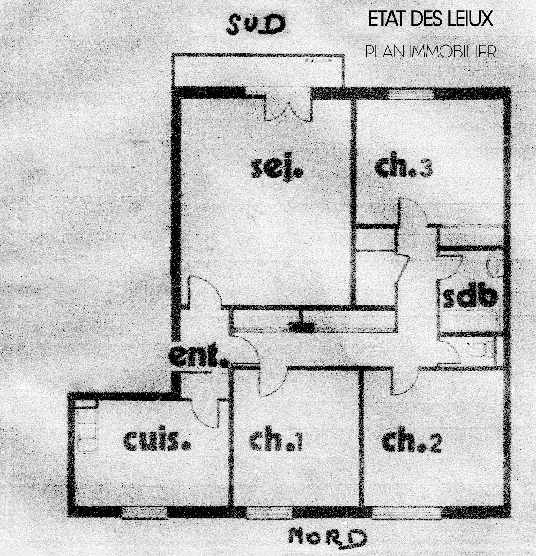 Plan 2D immobilier. Etat des lieux