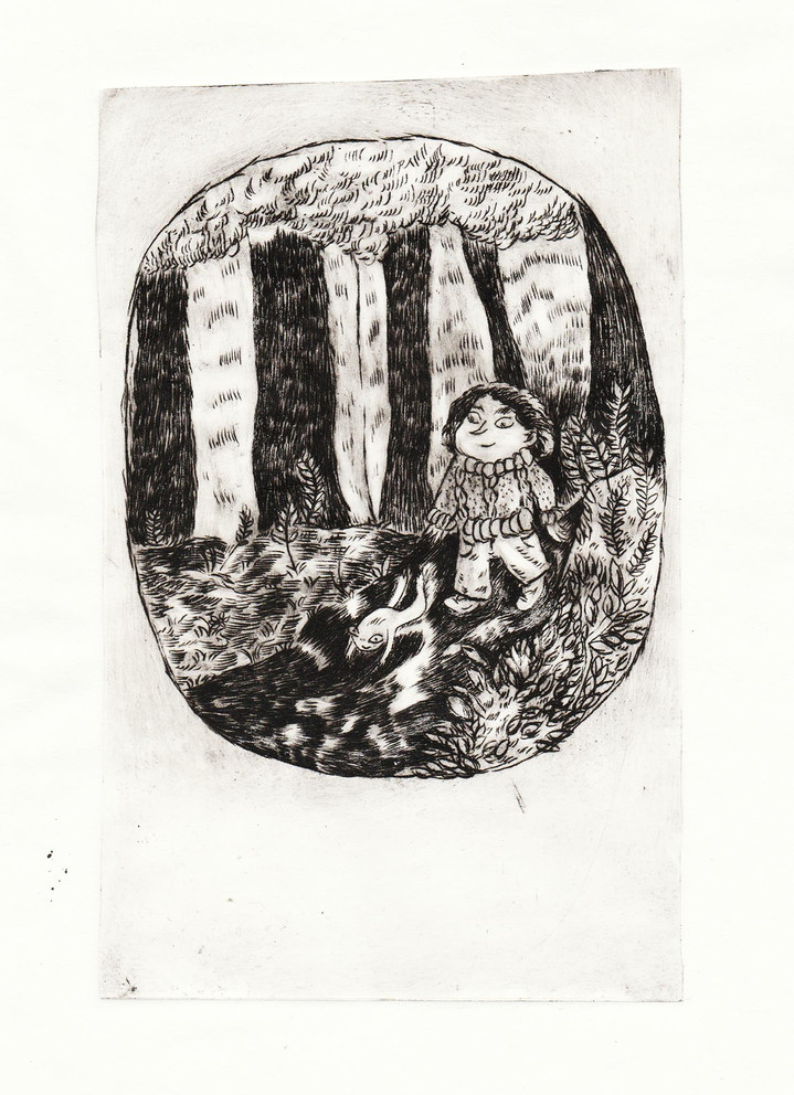 Une gravure noir et blanc