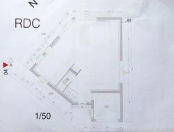 Les plans 2D d'un architecte