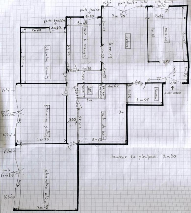 Plan côté fourni par les artisans