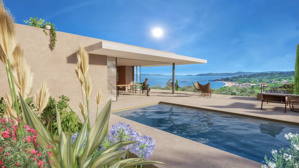 Perspective 3D Villas haut de gamme