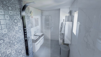 Une salle de bain en 3D
