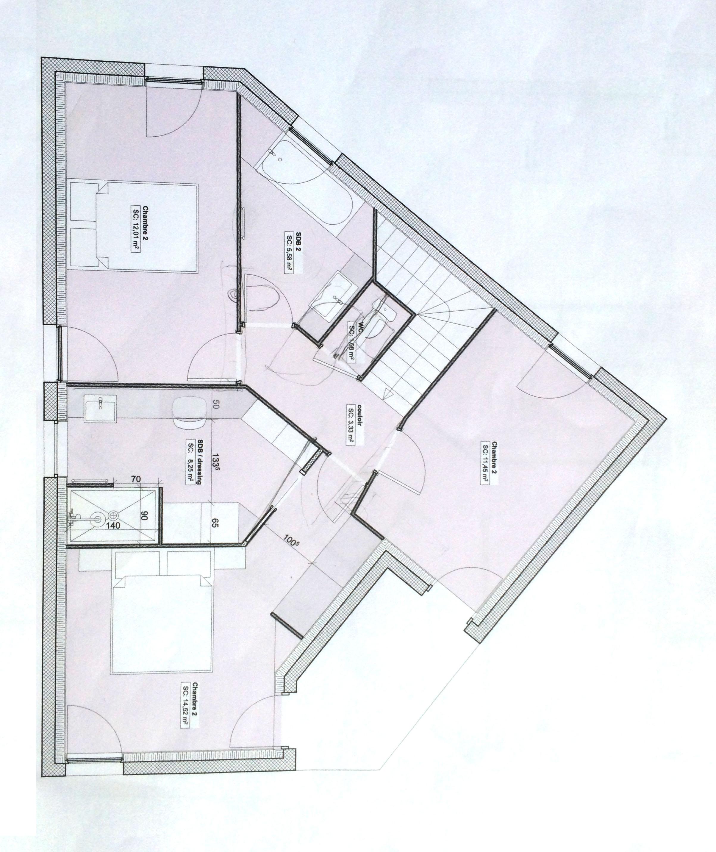 Plan 2D, architecte d'intérieur