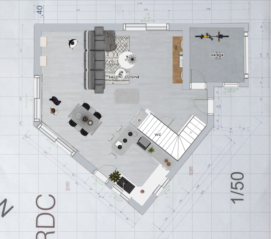 Plan 2D, aménagement d'espace