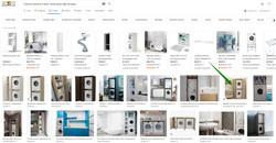 Une colonne pour machines dans la salle de bains