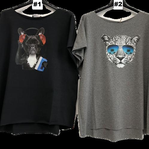 Damen T-Shirts mit Aufdruck Tiere