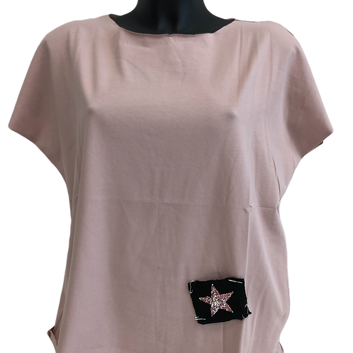 rosa Damen T-Shirts mit Patches Stern