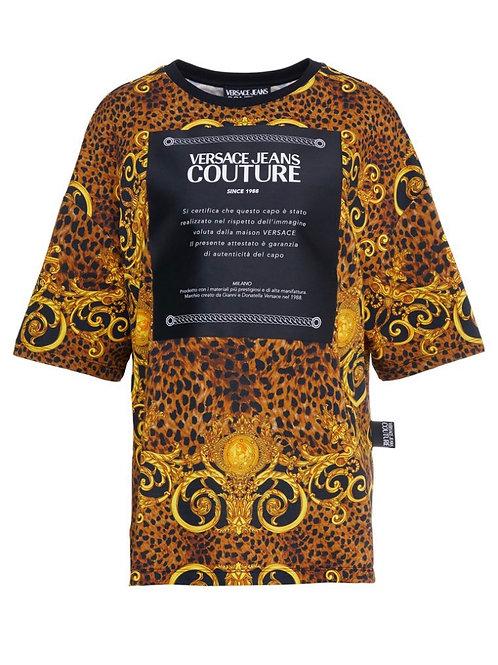 T-SHIRT z nadrukiem - Versace Jeans Couture