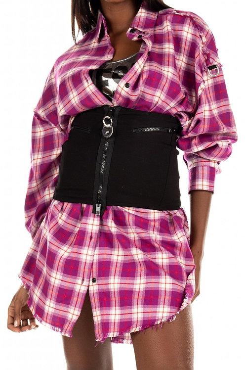 Koszula z szerokim pasem, Sukienka - DIESEL
