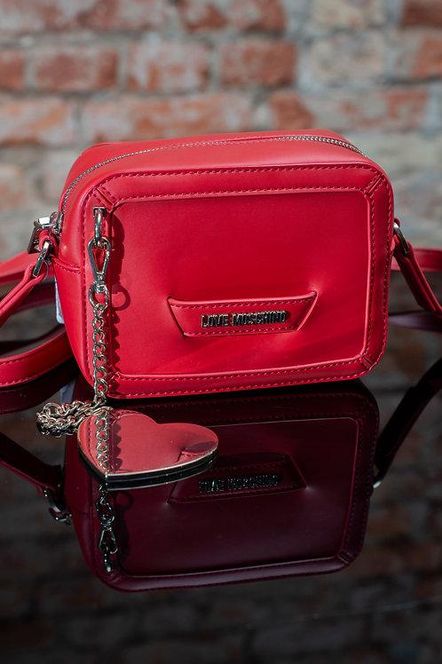 LOVE MOSCHINO - mała czerwona z serduszkiem
