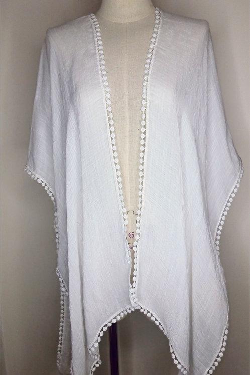 Lina lace back kimono white