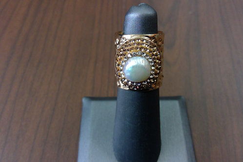 The Jewelry Junkie Freshwater Pearl Cuff Ring