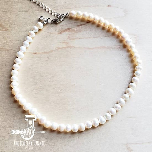 The Jewelry Junkie - Genuine Freshwater Pearl Choker Necklace