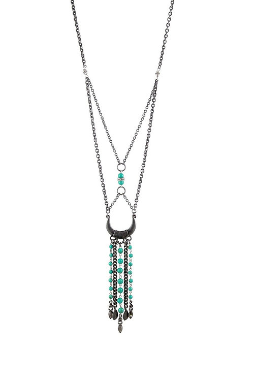 Ettika - Together Again Necklace in Turquoise and Antique Silver