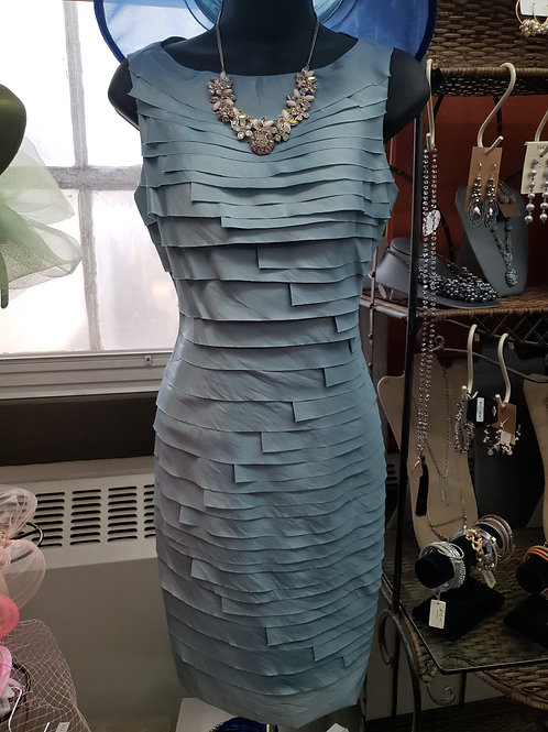 Wedgewood Blue Sheath Dress
