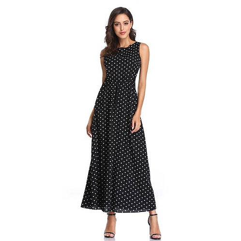 Asher & Emery - Sleeveless Polka Dot Dress