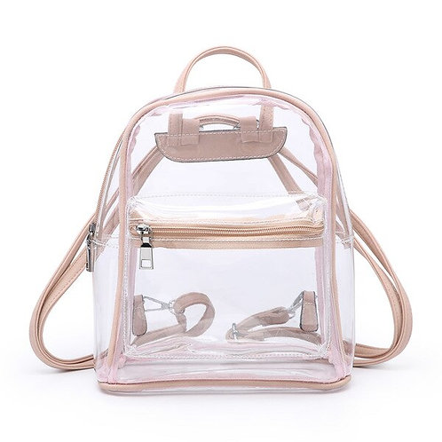 Clear Backpack with Front Zipper Pocket