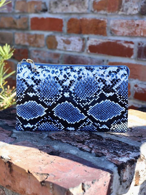 Liz custom collection crossbody bag snake indigo