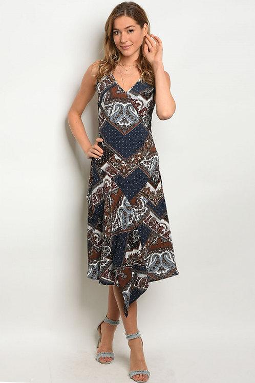 Strut & Bolt - Navy Paisley Dress