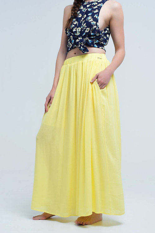 Q2 -  Yellow maxi skirt with pockets