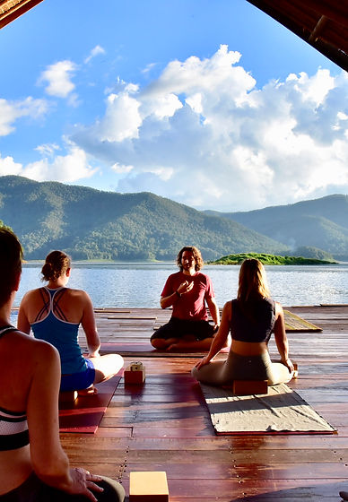 Christophe Cappon teaching a yoga retrat in Thailand
