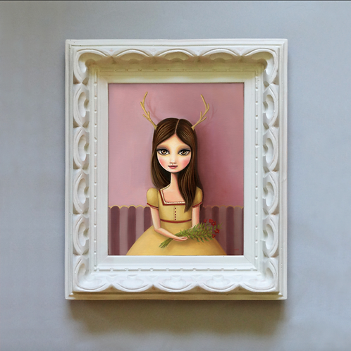 Sculpted Scalloped Frame -WITH PRINT