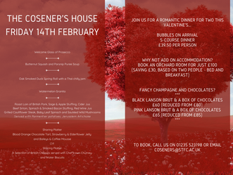 Valentine's with the Cosener's House...
