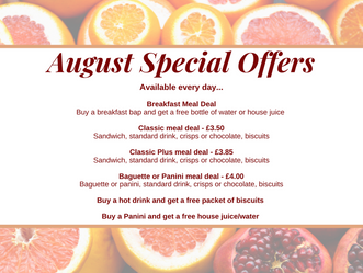 August special offers...