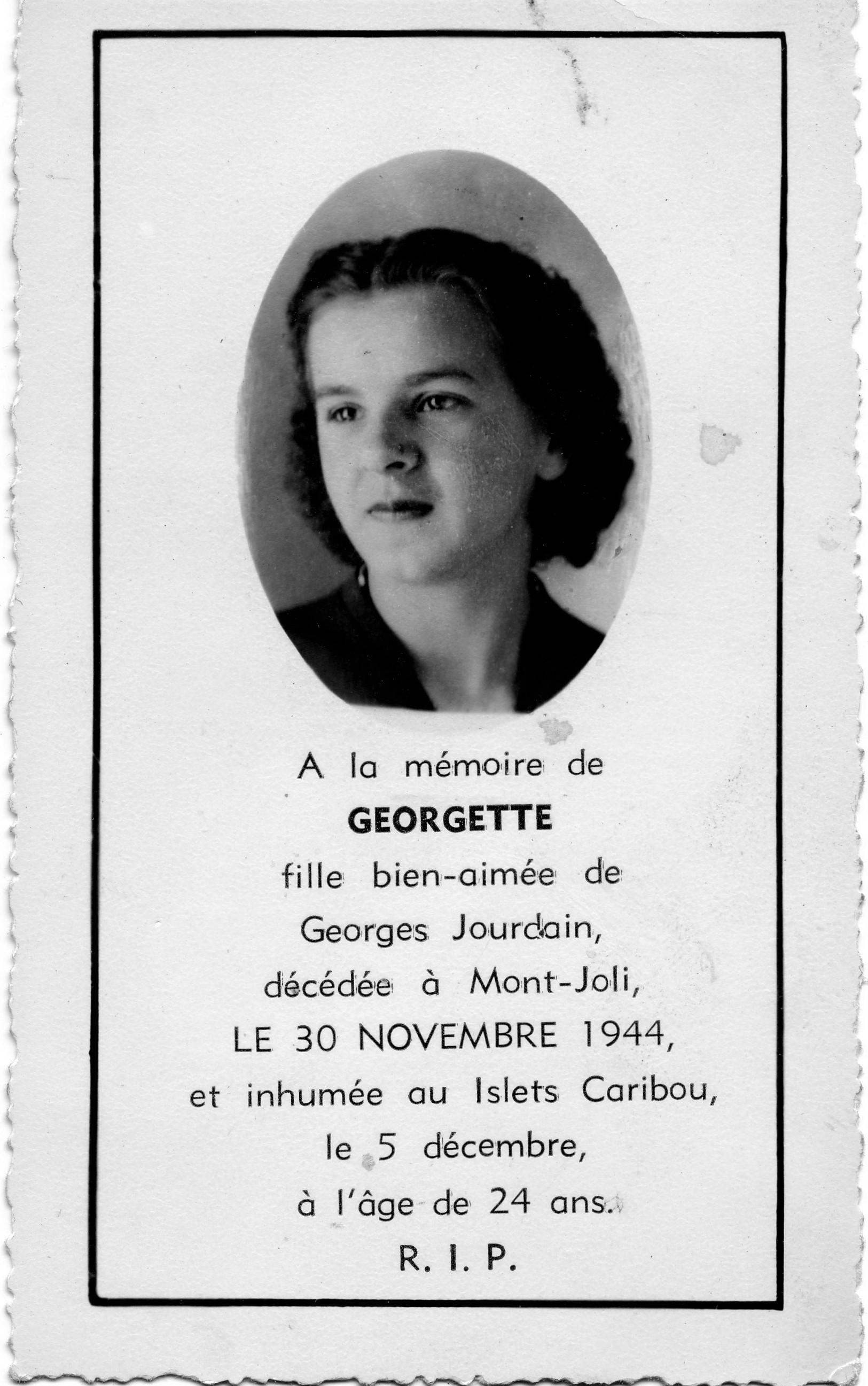 Georgette Jourdain 1920-1944