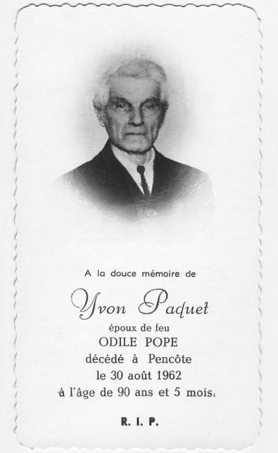 Yvon Paquet 1872-1962