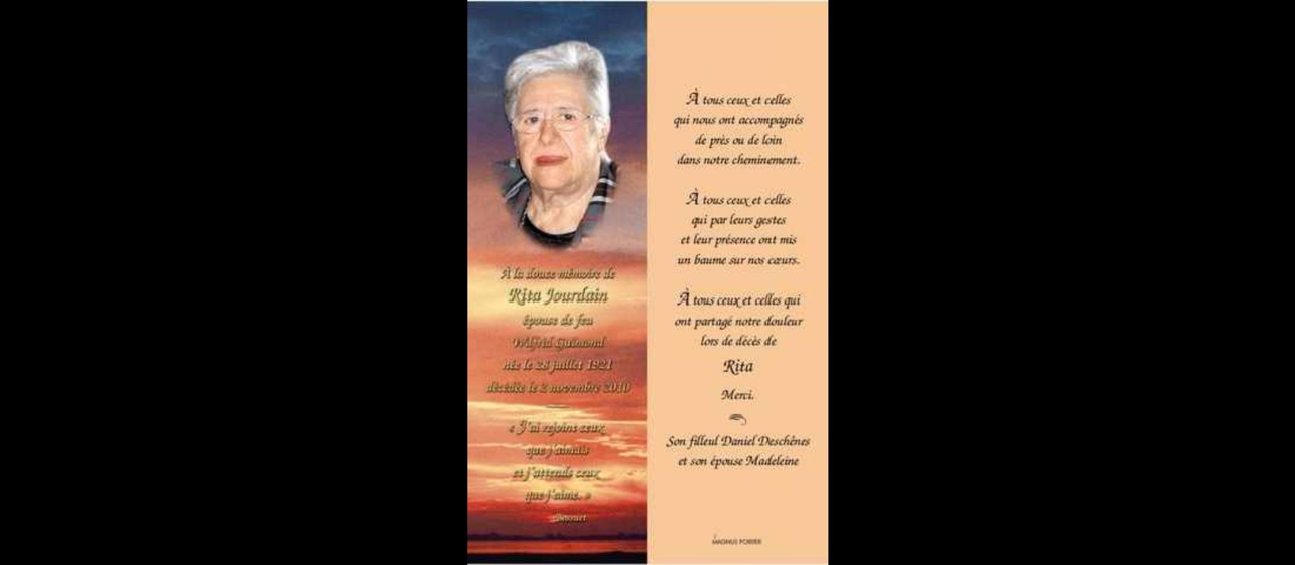 Rita Jourdain 1921-2010
