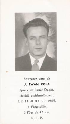 Ewan Zola 1921-1965