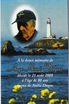 Ange Henri Dugas 1928-2008