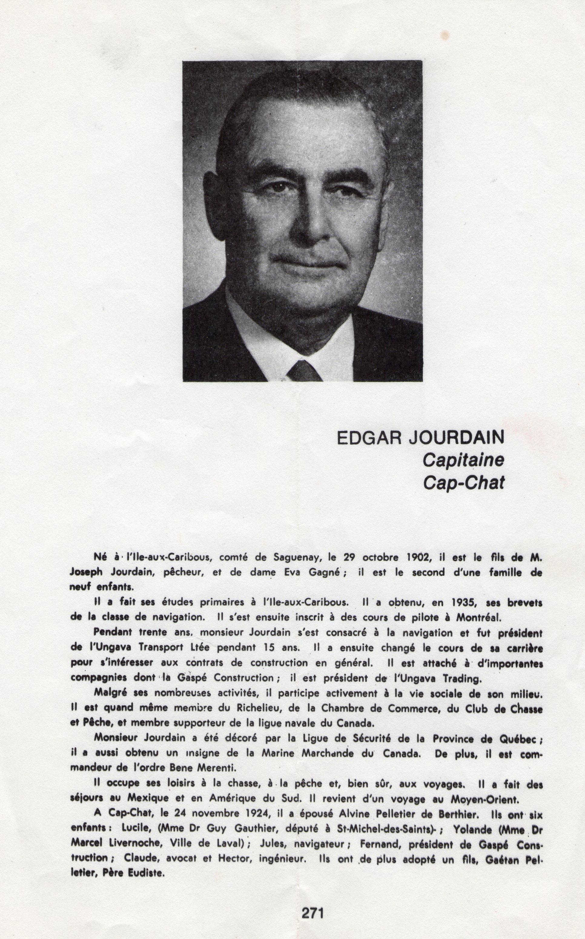 Capt Edgar Jourdain  1903-1978