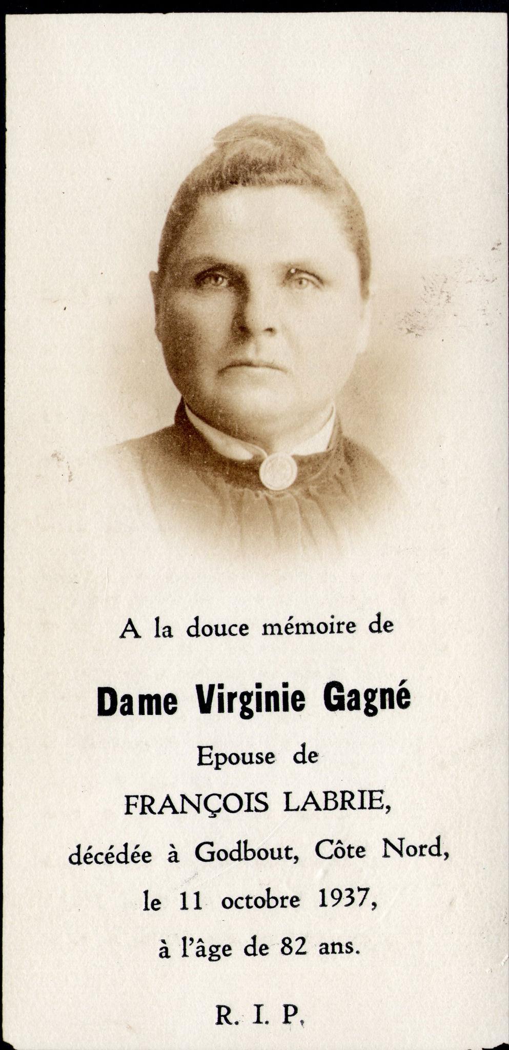 Virginie Gagné 1855-1937