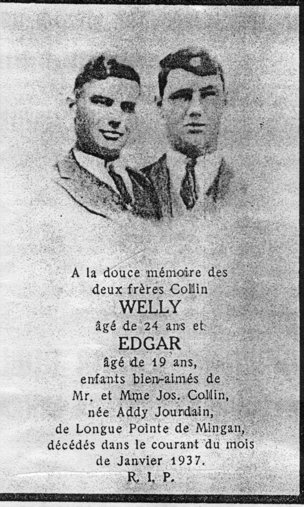 Welly et Edgar Collin