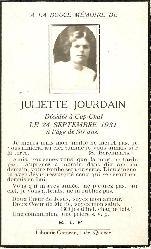 Juliette Jourdain 1901-1931