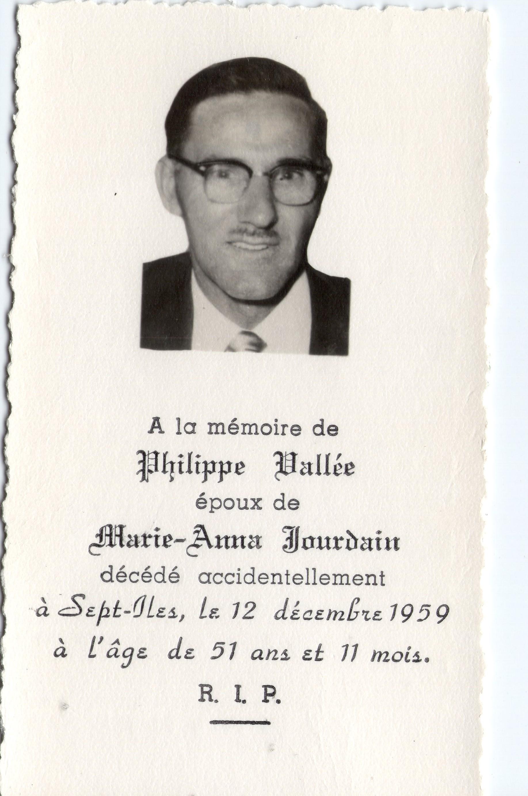 Philippe Vallée 1908-1959