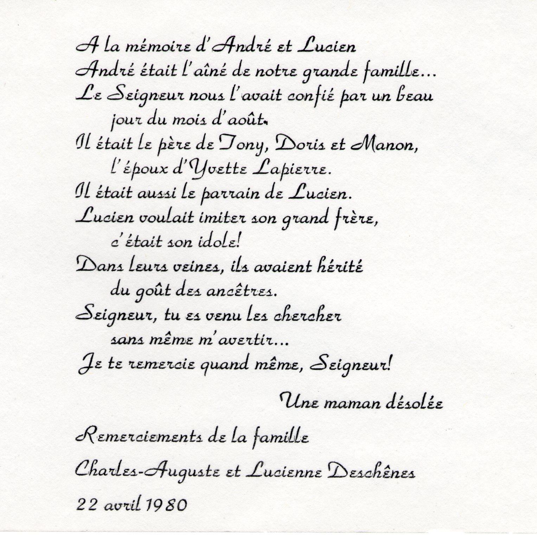 André et Lucien Déchênes