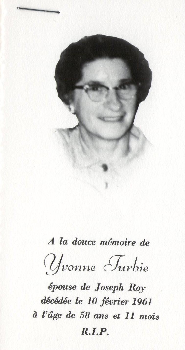 Yvonne Turbis 1903-1961