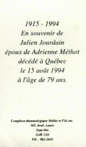 Julien Jourdain 1915-1994