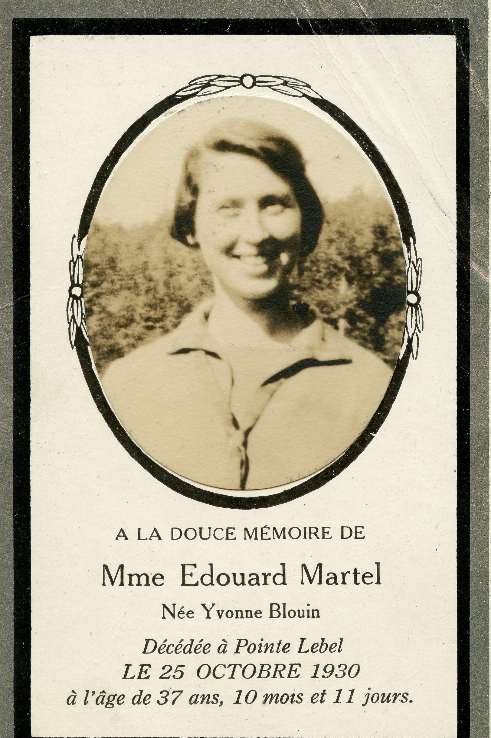 Yvonne Blouin 1993-1930