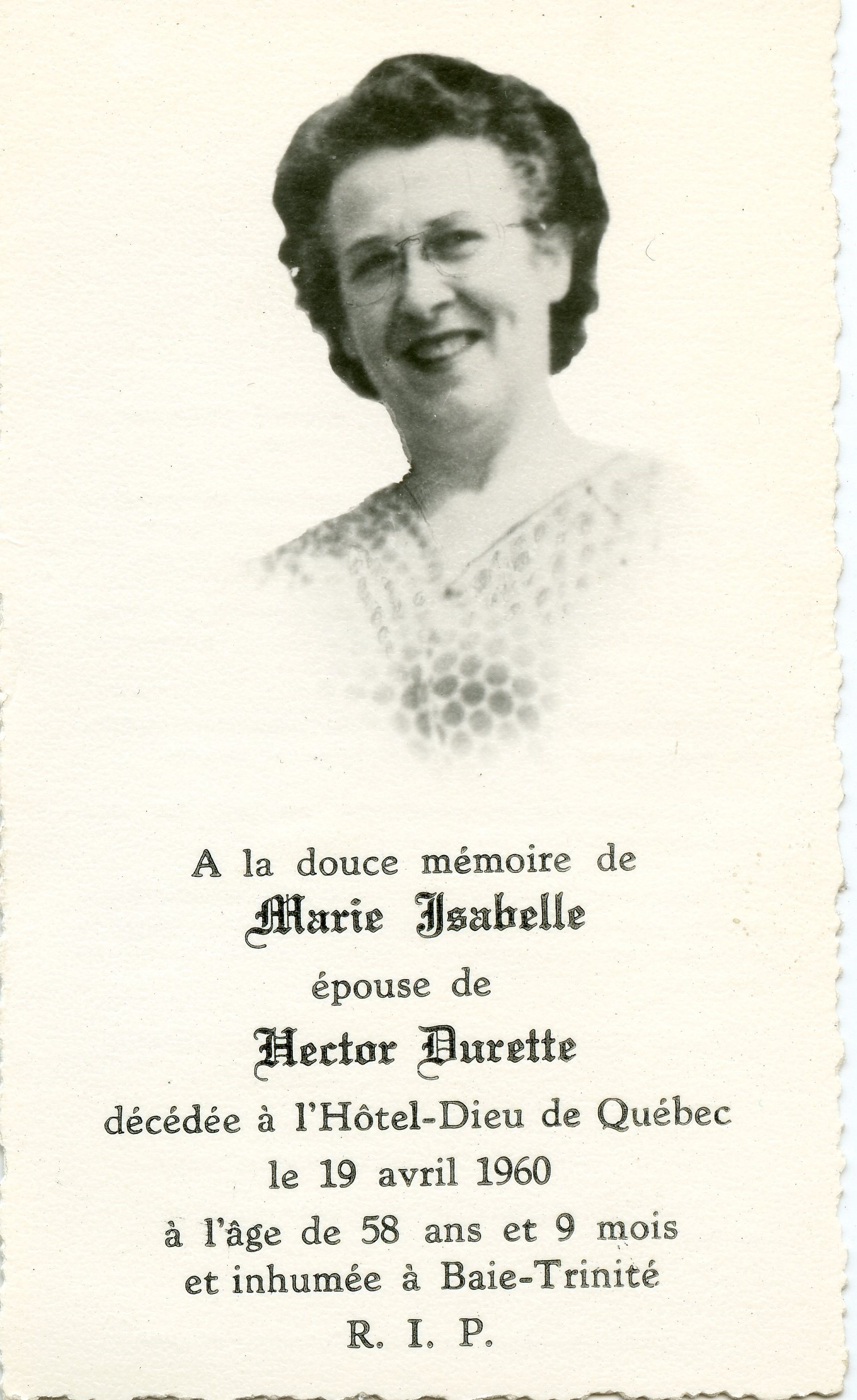 Marie Isabelle 1902-1960